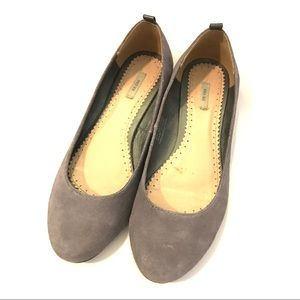 Urban Outfitters Gray Suede Flats